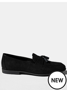 topman-piper-faux-suede-loafers-black