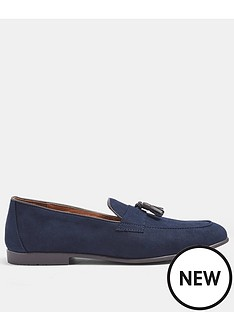topman-piper-faux-suede-loafers-navy