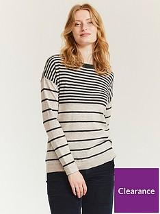 fatface-sadie-stripe-longline-jumper-grey