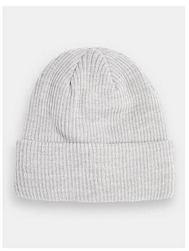 topman-ribbed-beanie-hat--nbspgrey