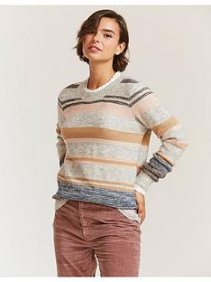 fatface-tweed-stripe-jumper-grey