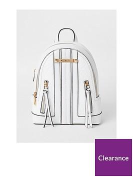 river-island-embossed-panel-backpack-white