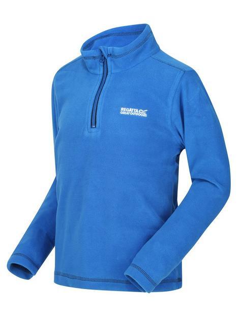 regatta-kids-hot-shot-ii-half-zip-fleece-blue