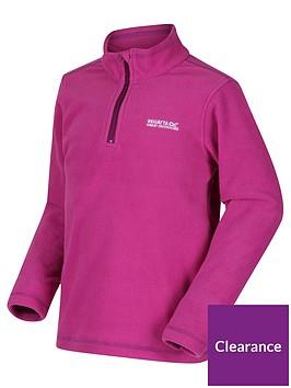 regatta-childrens-hot-shot-ii-half-zip-fleece-pink