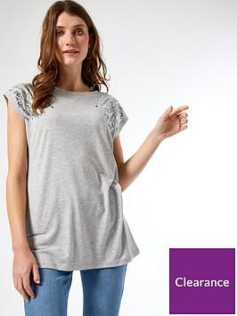 dorothy-perkins-sequin-short-sleeve-t-shirtnbsp--grey