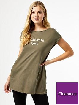 dorothy-perkins-longline-organic-logo-t-shirt-khakinbsp
