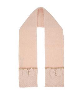 monsoon-girls-poppy-fluffy-sparkle-bow-scarf-pink