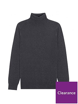 burton-menswear-london-fine-gauge-roll-neck-jumper-charcoal