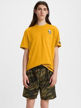 levis-football-snoopy-pocket-logo-t-shirt-yellow