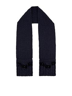 monsoon-girls-recycled-sparkle-velvet-bow-scarf-navy