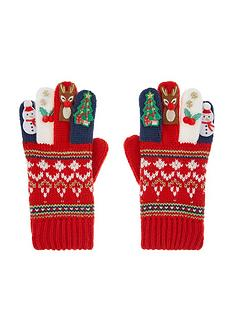 monsoon-girls-festive-novelty-gloves-red