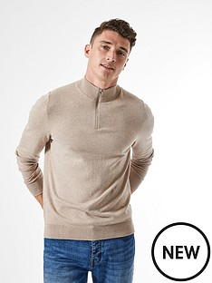 burton-menswear-london-half-zip-jumper-neutral