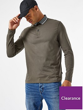 burton-menswear-london-jacquard-collar-long-sleeve-polo-shirt-khaki
