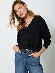 mint-velvet-button-front-cardigan-black