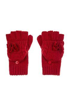 monsoon-girls-ruby-heart-velvet-bow-cable-gloves-red