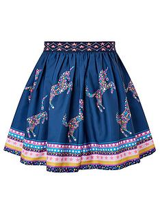 monsoon-girls-sew-unicorn-star-print-skirt-navy