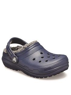 crocs-boysnbspclassic-lined-clog-navy