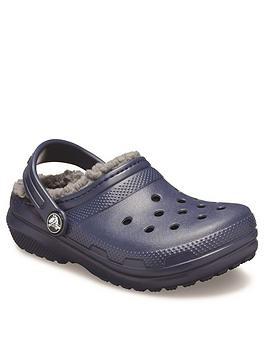 crocs-boysnbspclassic-lined-clog-navy