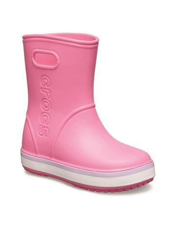 Crocs Kids Crocband Rain Boot Navy//Bright Cobalt Croslite Child Wellingtons Boots