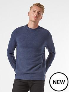 burton-menswear-london-zip-shoulder-jumper-navy