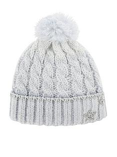 monsoon-girls-ombre-evie-star-dazzle-cable-beanie-hat-blue