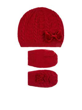 monsoon-baby-girls-ruby-beanie-mitten-set-red
