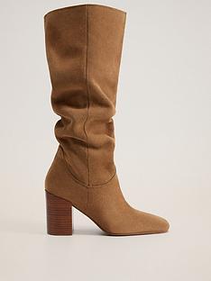 mango-suede-knee-boots-light-brown