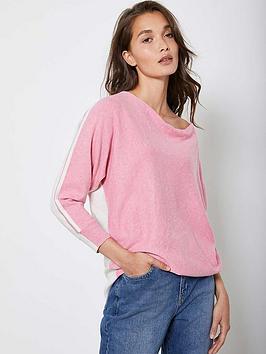 mint-velvet-blocked-cashmerenbspzip-back-batwing-topnbsp--pink