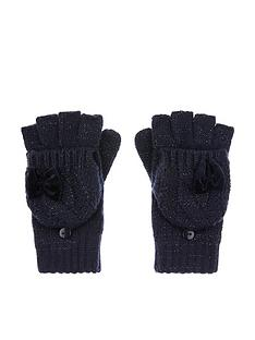 monsoon-girls-recycled-sparkle-velvet-bow-gloves-navy