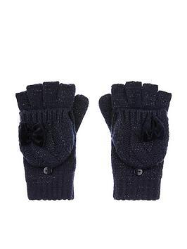 monsoon-girls-recycled-sparkle-velvet-bow-gloves-navy