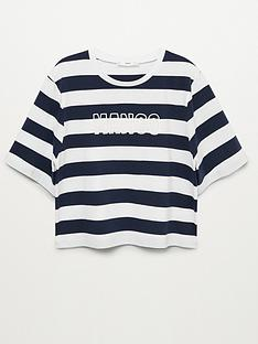 mango-striped-logo-t-shirtnbsp--navy