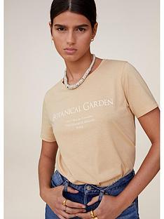 mango-botanical-garden-t-shirt-beige