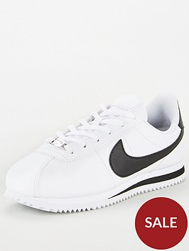 nike-cortez-basic-junior-trainers-whiteblack