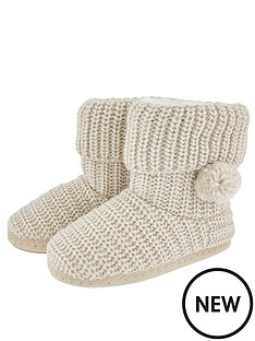 accessorize-lurex-chunky-knitted-boots-cream