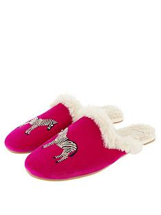 accessorize-embellished-zebra-mule-slippers-pink