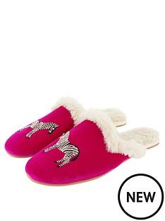 accessorize-embellished-zebra-mule-slippers-pink
