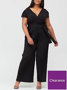 ax-paris-curve-pleated-jumpsuit-black