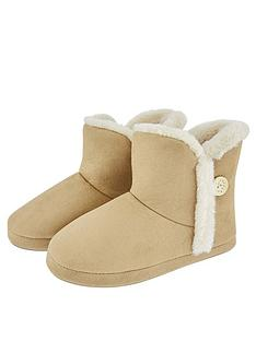 accessorize-suedette-slippernbspboots-tan
