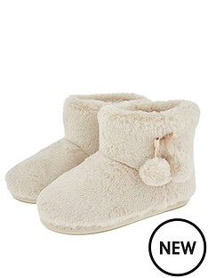accessorize-super-soft-slipper-boots-cream