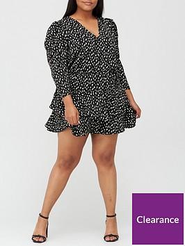 ax-paris-curve-tiered-v-neck-mini-dress-black