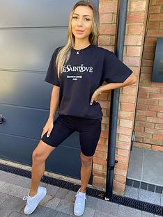 ax-paris-slogan-t-shirtnbsp-nbspblack