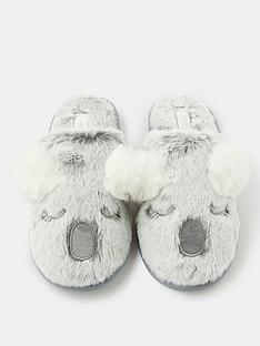 accessorize-koala-mule-slipper-grey