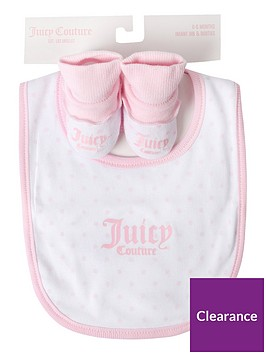 juicy-couture-baby-girls-bib-and-bootiesnbspset-white
