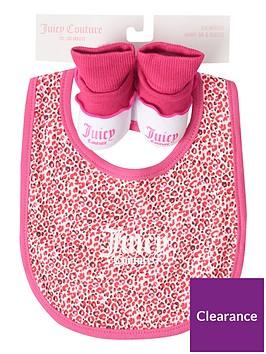 juicy-couture-baby-girls-bib-and-booties-set-dark-pink