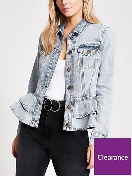 ri-petite-petite-frill-hem-fitted-denim-jacket-light-wash
