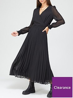 v-by-very-wrap-pleated-midaxi-dress
