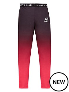 illusive-london-girls-fade-leggings-pink