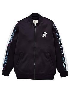 illusive-london-boys-dark-tropical-zip-through-jacket-navy