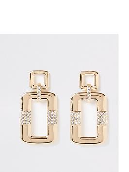 river-island-rectangle-diamante-mix-earrings-gold