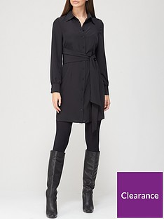 v-by-very-tie-shirt-dress-black
